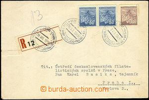 37387 - 1945 Reg letter with cancel. Olomouc - Prague / 100 years ra