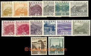 37403 - 1932 velké krajinky Mi.498-511, luxusní, kat. 500€