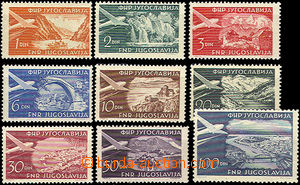 37408 - 1951 air-mail Mi.644-652, superb, c.v.. 80€