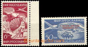 37410 - 1951 air-mail Mi.666-667, c.v.. 80€
