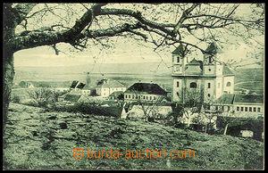 37446 - 1930? Pozořice - (soudní okres Slavkov), pohled na kostel a