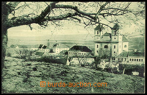 37446 - 1930? Pozořice - (court district Slavkov), view of church an
