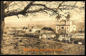 37447 - 1930? Pozořice - (soudní okres Slavkov), pohled na kostel a