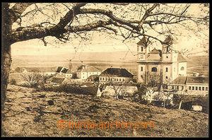 37447 - 1930? Pozořice - (court district Slavkov), view of church an