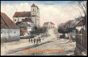 37451 - 1925 Pozořice - (court district Slavkov), view of church an