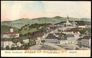37453 - 1915 Jevišovice - Jaispitz, pohled na náměstí, malovaná