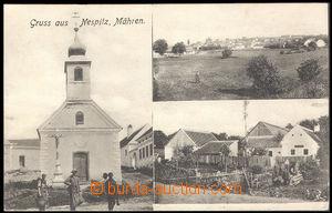 37455 - 1912 Mešovice - Nespitz, kostelík, celkový pohled, obchod