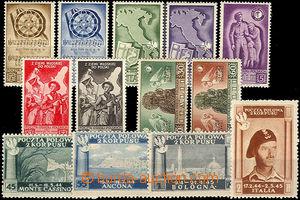 37473 - 1944 Exilové vydání v Itálii, sestava 13ks zn.
