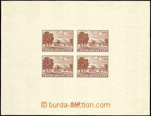 37475 - 1943 1943- PrA1a Terezin souvenir sheet for Red Cross, Brown