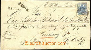 37482 - 1850? R letter franked with Mi.5Y and Mi.4X on reverse, good