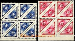 37496 - 1939 Doruční,  krajové 8-bloky, Pof.DR1, DR2