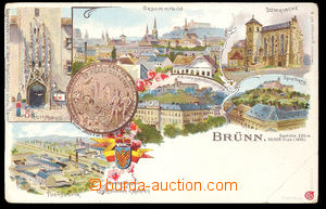 37498 - 1900 Brünn,  lithography color, coat of arms, memorial meda