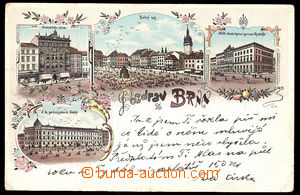 37499 - 1898 BRNO (Brünn) - lithography color, Komárkův house, Ve