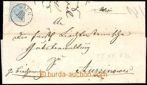 37510 - 1850 skládaný dopis vyfr. zn. Mi.5 (9kr), I.typ., ruční papí