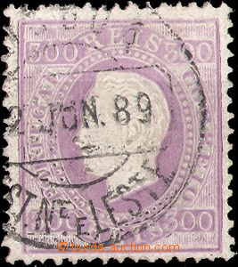 37515 - 1870 Mi.45yB Luis I., highest value, overlapping postmark, g
