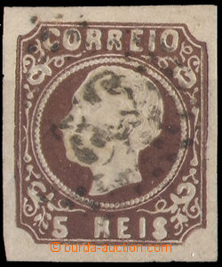37516 - 1862 Mi.12/I. Luis I., wide margins, on reverse by hand writ