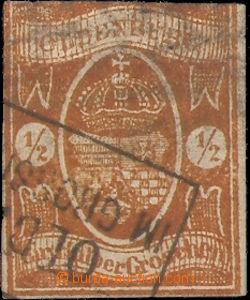37517 - 1861 Mi.11A Znak, nezoubkovaná, nahoře zástřih, jinak t�