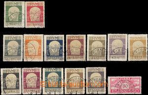 37521 - 1920 Mi.98-111, 113 Gabriel d´Anuncio, 15 pcs of, hinged, cl