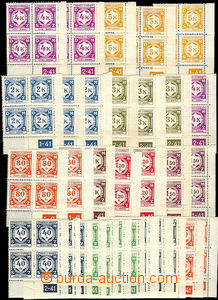 37531 - 1941 Pof.SL1-SL12, issue I  selection of 61 pcs of L and P b
