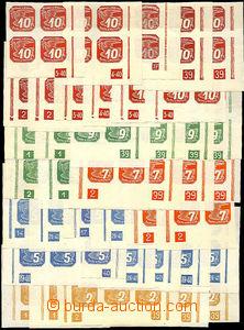 37534 - 1939 I.vydání  sestava 72ks pravých a levých 4-bloků s
