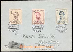 37535 - 1948 3x postmark PRAGUE - ÚŘAD (= office) RAILWAY POŠT/1c