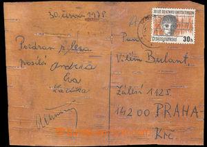 37540 - 1975 LÍSTEK Z BŘEZOVÉ KŮRY   vyfr. zn. 30h a přepraven�