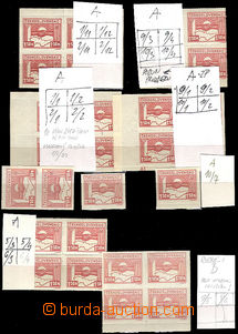 37561 - 1945 Pof.353, Košice-issue  1,50 Koruna,  comp. 6 pcs of bl