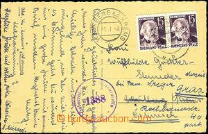 37566 - 1948 FRENCH ZONE  Rheinland-Pfalz  postcard to Austria, with
