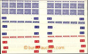 37604 - 1939 Pof.DL8 3x, DL10 3x, comp. 6 pcs of bottom bnd-of-20 wi