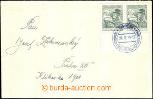 37609 - 1939 letter franked with. Czechosl. stamp. 2x 50h Pof.333, w