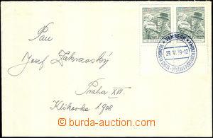 37609 - 1939 dopis vyfr. čs. zn. 2x 50h Pof.333, s modrým PR Vambe