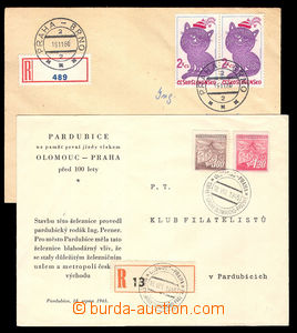 37617 - 1945/80 RAILWAY, bianco Reg labels for railway post on/for R