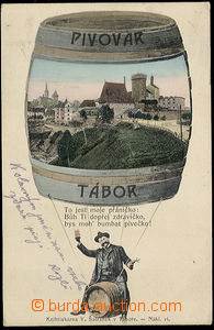 37618 - 1904 Tábor - collage, town in/at barrel, brewery, Us, bumpe
