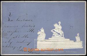 37620 - 1899 Warszawa - pomník Sobieskiego, stylizovaná, silně tl