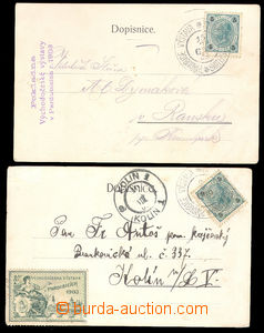 37623 - 1903 2 pcs of Ppc with 5h with special postmark PARDUBICE EX