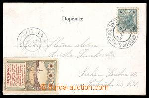 37629 - 1903 pohlednice vyfr. zn. 5h s PR HOŘICE VÝSTAVA/ HOŘITZ