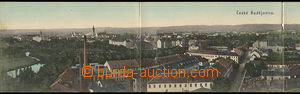 37638 - 1908 České Budějovice - 4x panorama celkový pohled do ul