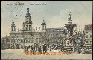 37640 - 1907 České Budějovice - Hlavní náměstí s radnicí, po