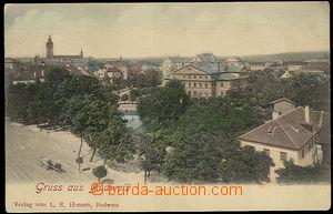 37641 - 1900 České Budějovice - Gruss aus Budweis, pohled od řek