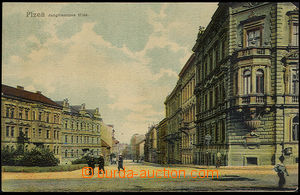 37644 - 1900 Plzeň - Jungmann road, Un, rounded corners, torn off c
