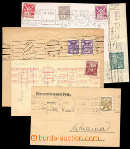 37660 - 1920/21 4 entires with machine advertising postmarks from ea