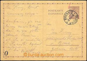 37683 - 1942 Kaunicovy koleje Brno, dopisnice odeslaná z věznice b