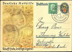 37686 - 1930 obrazová dopisnice D.Nothilfe Mi.P209 zaslaná do ČSR