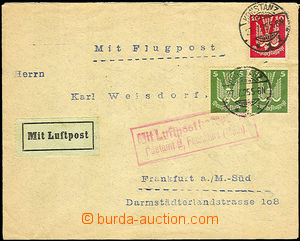 37692 - 1925 air-mail letter from Konstanz 27.7.25 to Frankfurt - re