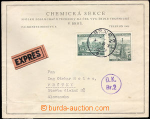 37695 - 1939 Customs control   Ex letter from Bohemia-Moravia to Slo
