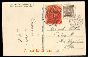 37712 - 1938 postcard to Prague after/around Hungarian occupation, m