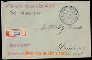37723 - 1937 Reg letter liberated from postage also registered, sent