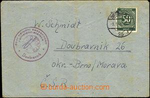 37799 - 1948 dopis zaslaný z Ruské zóny Německa do ČSR, cenzurn