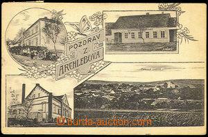 37802 - 1910 Archlebov - dairy works, school, coaching inn U Germans
