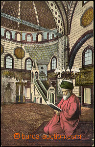 37808 - 1910  Betender Türke also. d. Moschee (Turkishman praying i